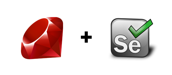 ruby and selenium logo